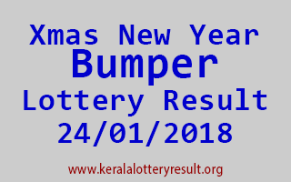 Christmas New Year Bumper BR 59 Lottery Result 24-01-2018