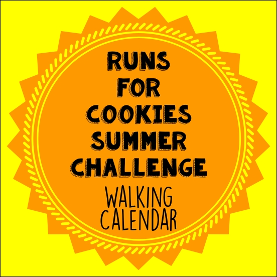 Cookies Summer Challenge Walking Calendar