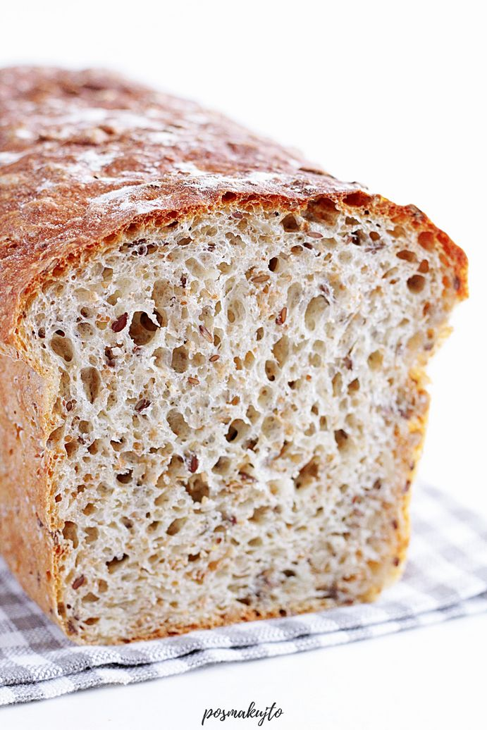 Chleb wieloziarnisty mieszany łyżką