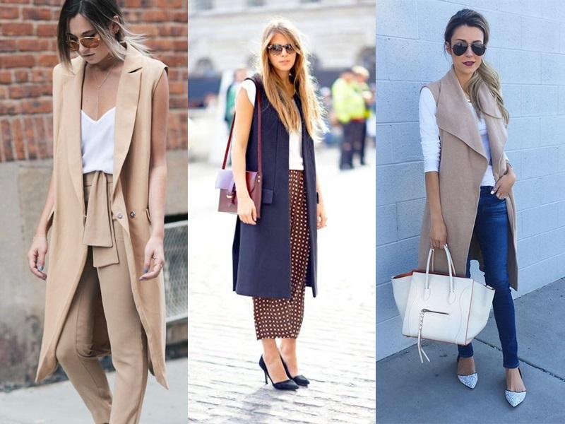 Maxi colete tendência de moda