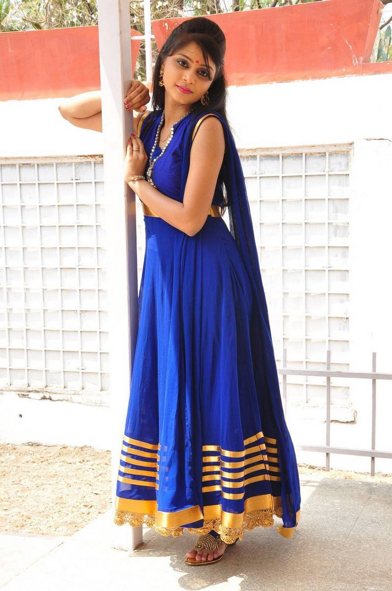 Actress Harisha Krishna Stills in Beautiful Blue Chudiddar  0050.jpg