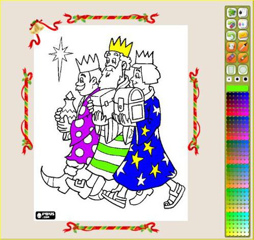 8c35c2faa83 Dibujo De 3 Reyes Magos Para Colorear Dibujos Net ...