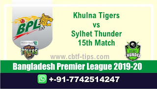 Who will win Today BPL T20, 15th Match Sylhet vs Khulna - Cricfrog