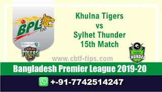 Who will win Today BPL T20, 15th Match Sylhet vs Khulna - Cricfrog
