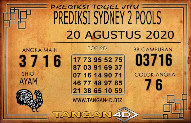 PREDIKSI TOGEL SYDNEY 2 TANGAN4D 20 AGUSTUS 2020