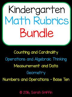 https://www.teacherspayteachers.com/Product/Kindergarten-Math-Assessment-Rubric-Bundle-267848