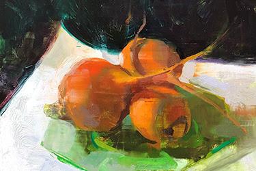 JON REDMOND Beets on a Plate Oil on Board $3,200
