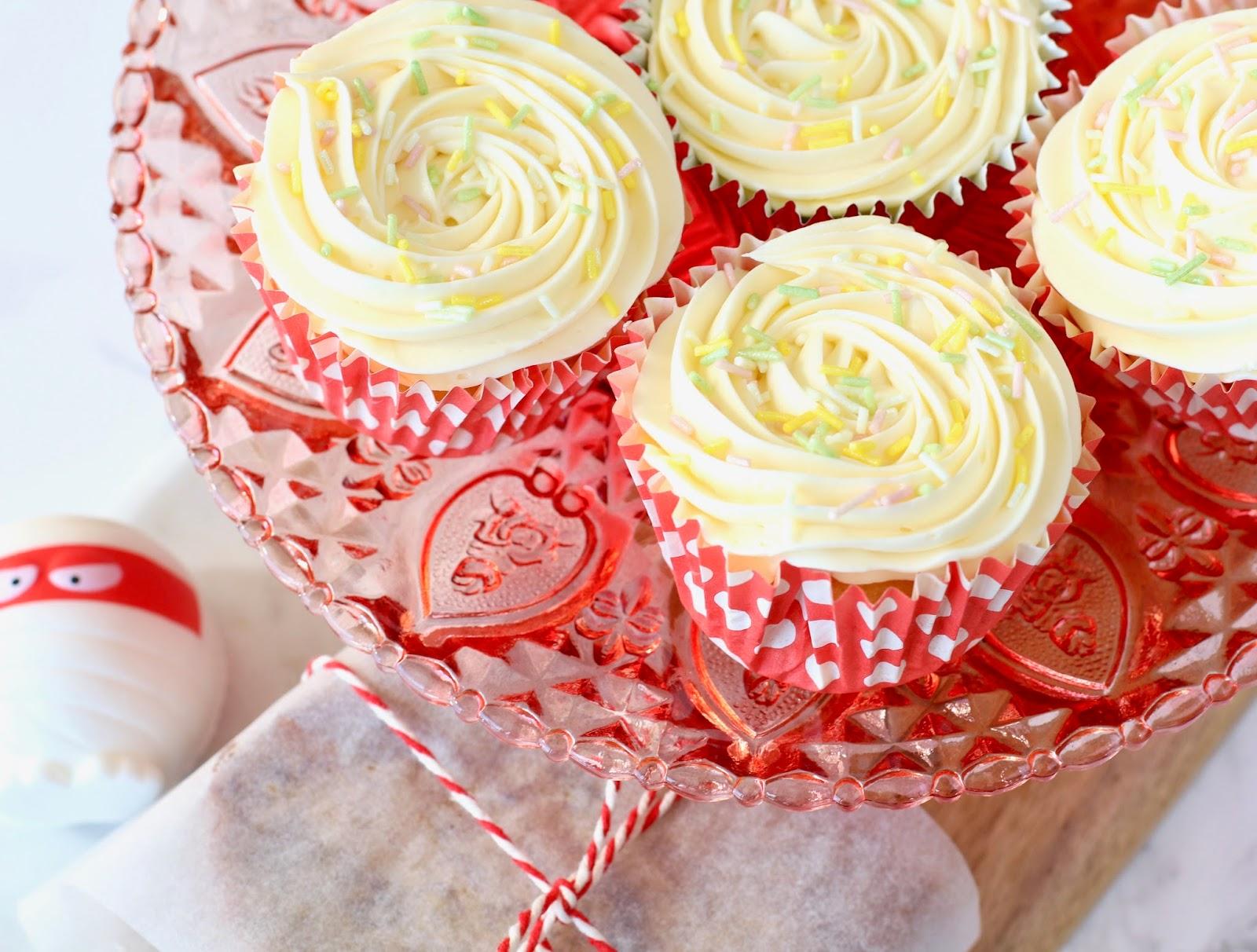 Red Nose Day Bake Sale Ideas vanilla cupcakes banana bread