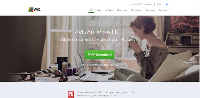 Antivirus Gratis Terbaik Yang Ringan Untuk Laptop - AVG free antivirus