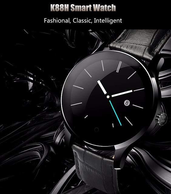 Coupon & Review K88H Bluetooth Smart Watch Heart Rate Monitor Smartwatch