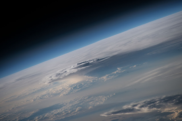 Clouds over Indian Ocean seen from the International Space Station