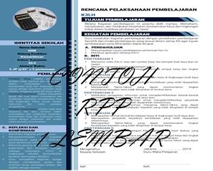 Contoh RPP SMK 1 Helai