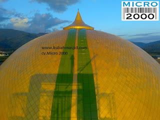 Masjid Agung Lasusua Kolaka Timur Sulawesi Tenggara, karya CV. Micro 2000 [kubahmasjid.com]
