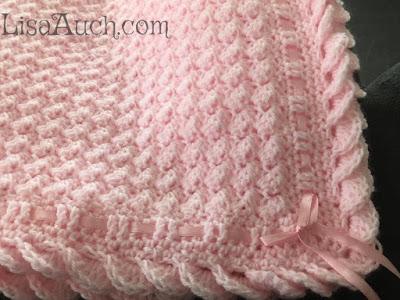 wave shell crochet border free written pattern