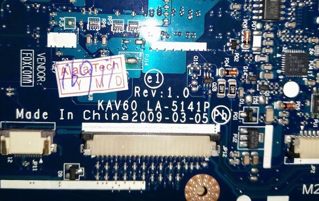 LA-5141P Rev 1.0 KAV60 Acer Aspire One AOP531H Bios