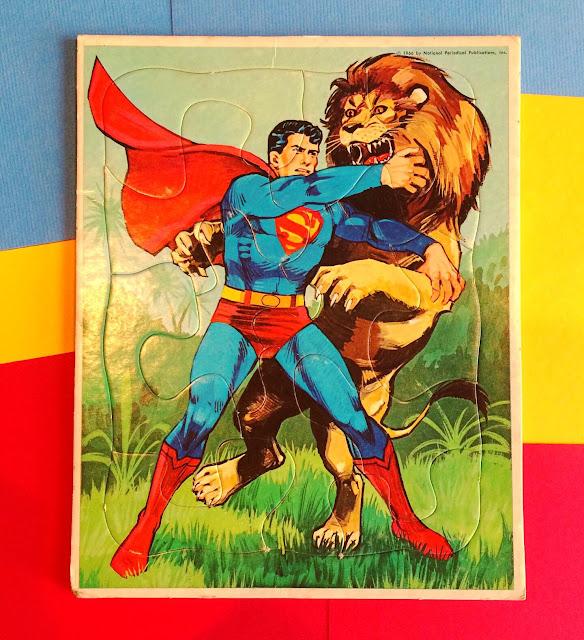 Whitman Superman frame-tray puzzle