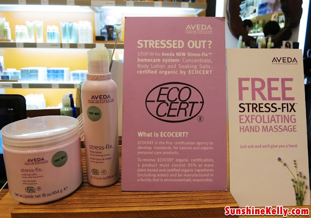 Aveda Stress-Fix Soaking Salt, Aveda Stress-Fix Body Lotion