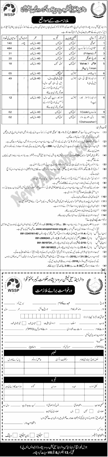Latest KPK Jobs in Water and Sanitation Services Peshawar (763 Vacancies)