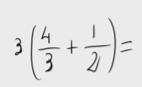 33.    Operación con fracciones - Propiedad distributiva
