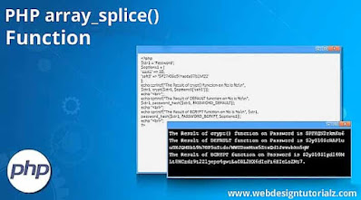 PHP array_splice() Function
