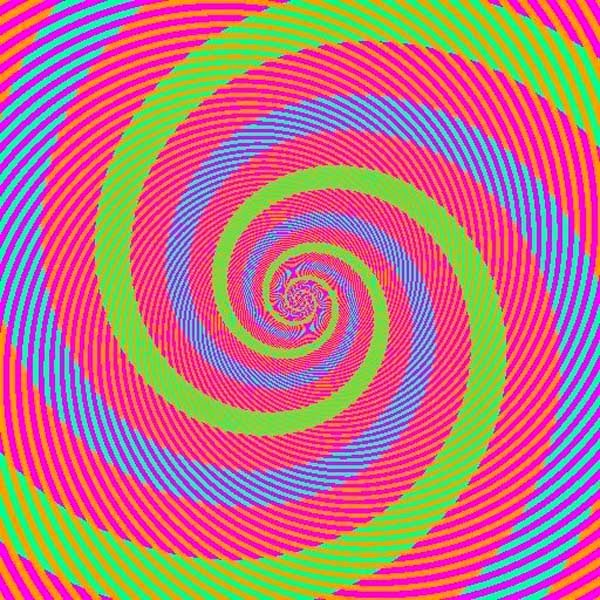 Awesome Illusions That May Make Your Brain Explode - The blue and green spirals are the EXACT same color.