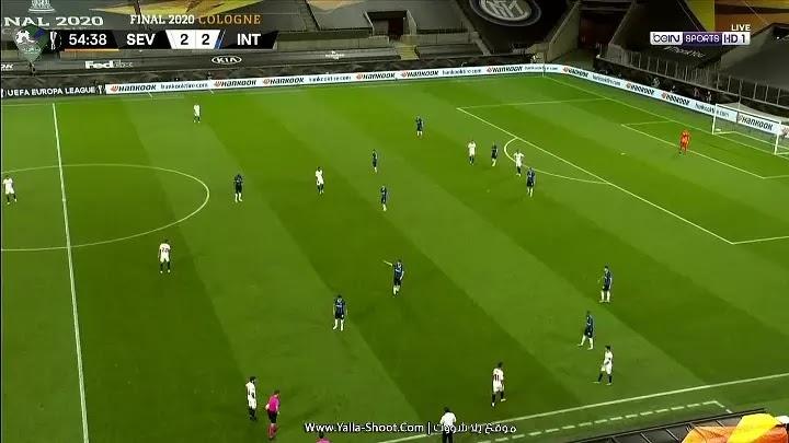 الشوط الثاني لمباراة اشبيلية وانتر ميلان بتاريخ 2020-08-22 الدوري الأوروبي
