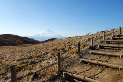 Pathway at the top of Mount Komagatake