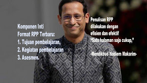 "Komponen Inti Format RPP Terbaru yang disederhanakan Mendikbud Nadiem ""Merdeka Belajar"""