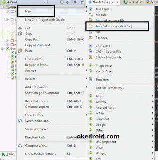 Membuat folder Android resource directory Android Studio