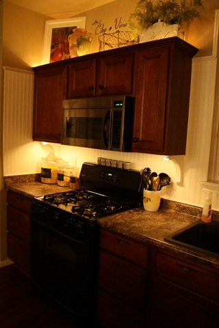 DIY accent lighting kitchen
