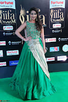Manjusha in Beautiful Sleeveless Green Anarkali dress at IIFA Utsavam Awards 16.JPG