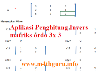 Langkah Mudah Mencari Invers Matriks Ordo 3x3 (Menggunakan Aplikasi di m4thguru)
