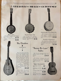 ukuleles, tiples, and octophones