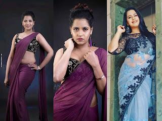 Sadhika Venugopal Hot Navel Show In Saree