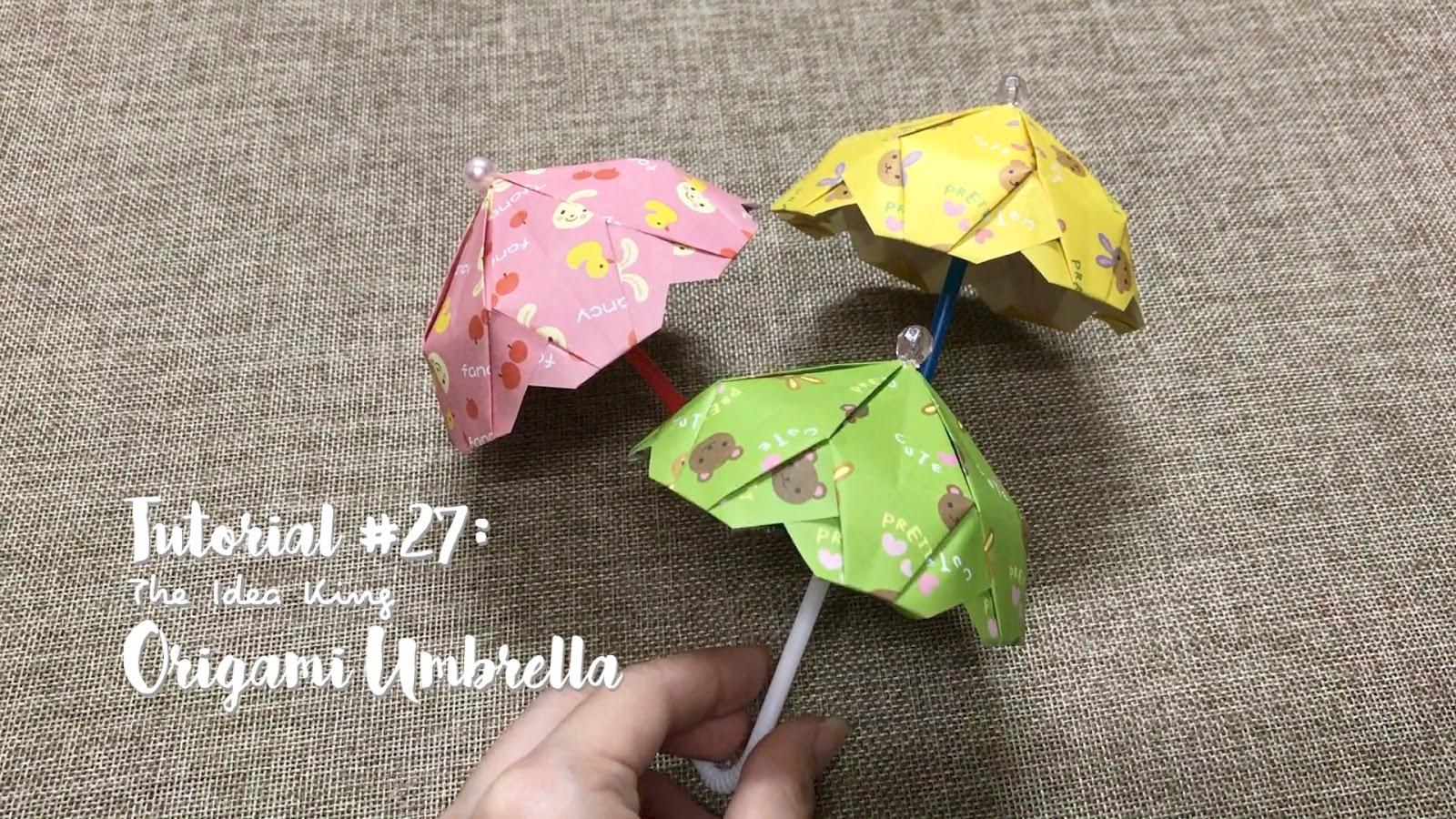 How to make a paper umbrella | Easy origami umbrellas for ... | 900x1600