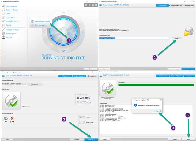 masterizzare ISO con Ashampoo Burning Studio Free