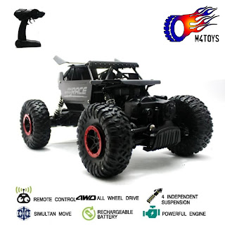 RC MOBIL OFFROAD CLIMBING CAR MONSTER SCALE 1:18 4WD 2.4Ghz Hitam