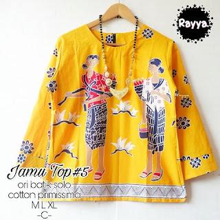 Blouse Batik Jamu Top5 Katun Primissima