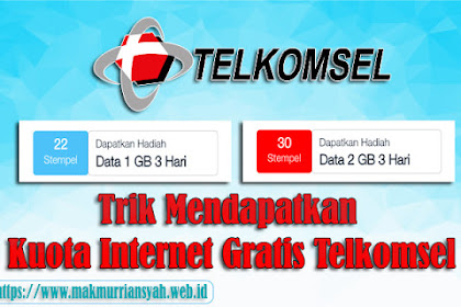 Trik Mendapatkan Kuota Internet Gratis Telkomsel