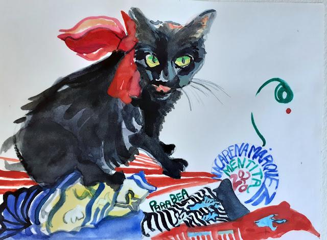 Pintar gatos con Acuarela