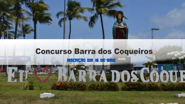 Inscrições para o concurso da Barra dos Coqueiros 2020 começam dia 16 de maio