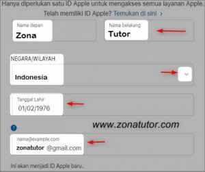 Cara Membuat Akun ID Apple Dan Daftar iClod Baru