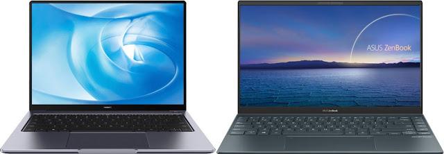 Huawei MateBook 14 AMD 2020 vs Asus ZenBook 14 UM425IA-AM006