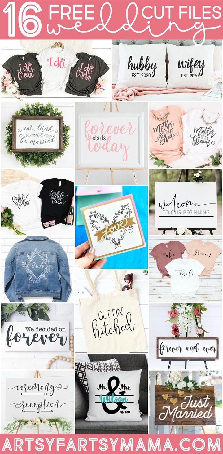 16 Free Wedding SVG Cut Files #TotallyFreeSVG