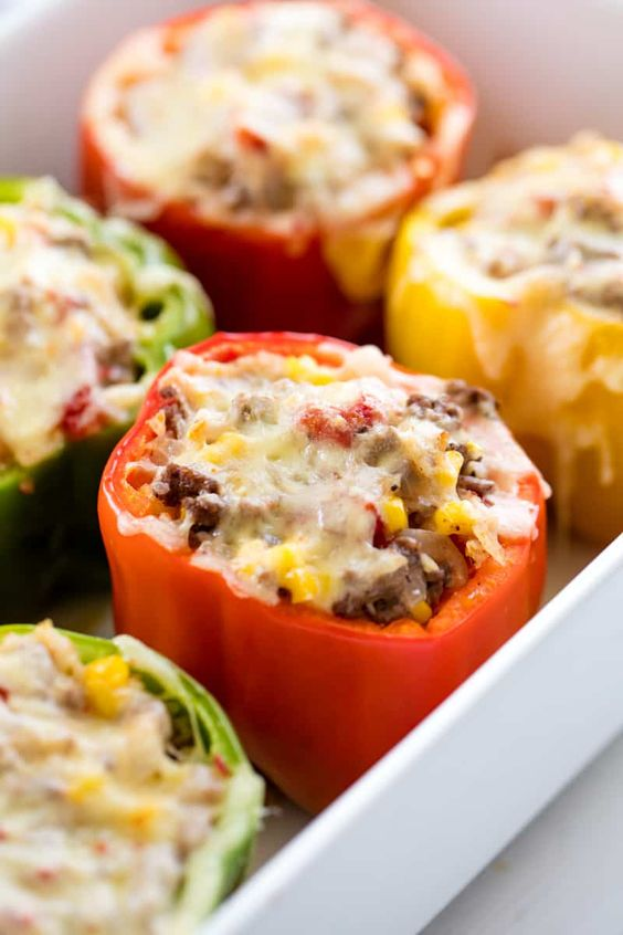 EASY STUFFED BELL PEPPERS #recipes #dinnerrecipes #healthyrecipes #easyhealthydinnerrecipes #food #foodporn #healthy #yummy #instafood #foodie #delicious #dinner #breakfast #dessert #lunch #vegan #cake #eatclean #homemade #diet #healthyfood #cleaneating #foodstagram