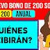 Bono Orfandad: 200 Soles