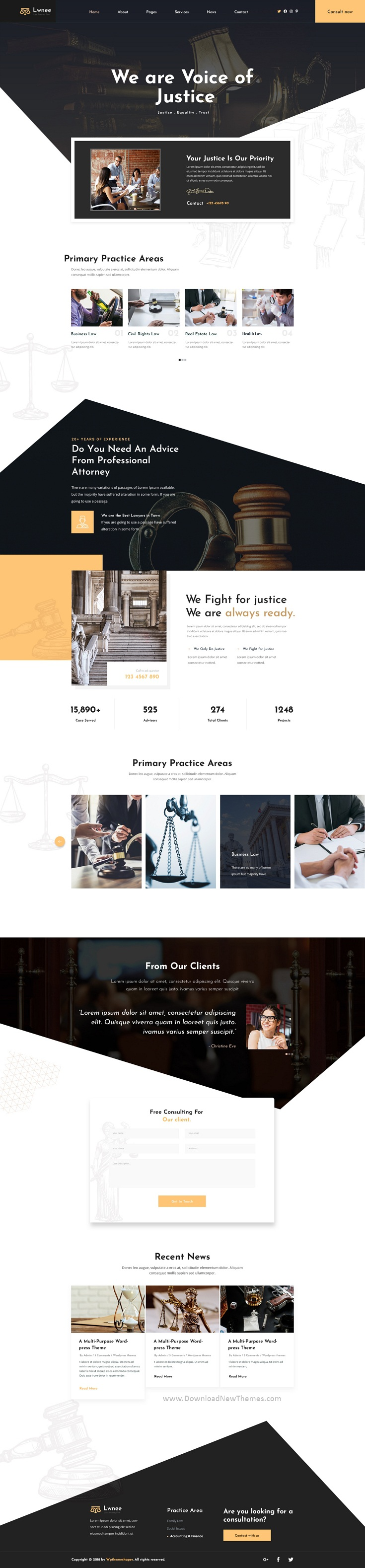 Best Attorneys & Law Firm PSD Template