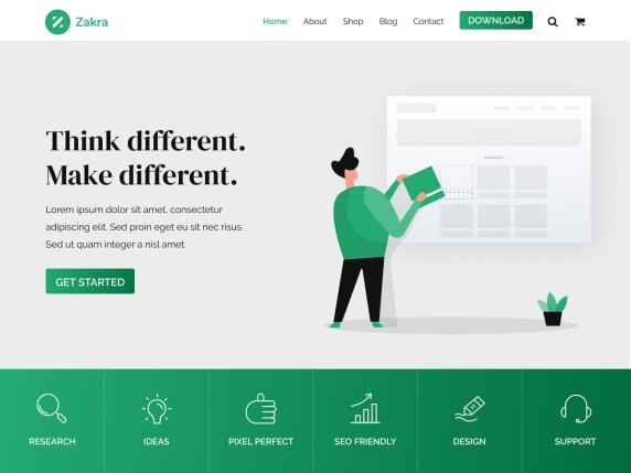 WordPress Tema-Zakra