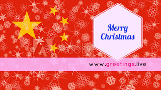 Red color Christmas greetings with China Themes