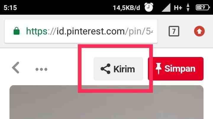 Cara save Pinterest di iPhone